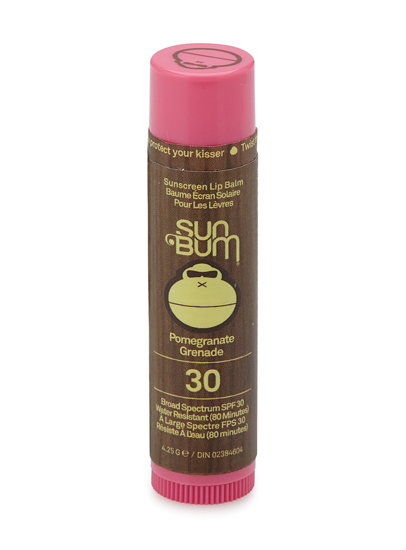 Sun Bum Red Pomegranate SPF 30 sunscreen lip balm for women