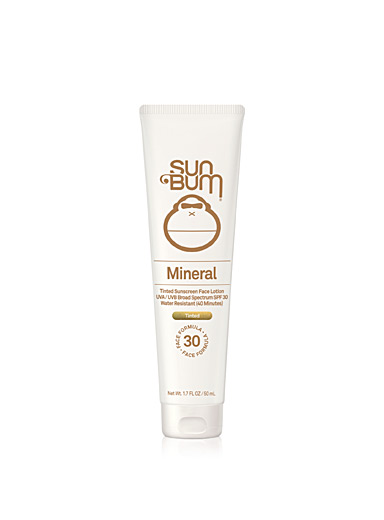 Mineral SPF 30 tinted sunscreen face lotion