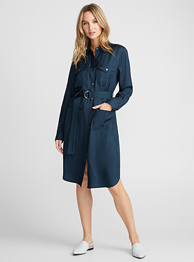 Sienna fluid pocket shirtdress