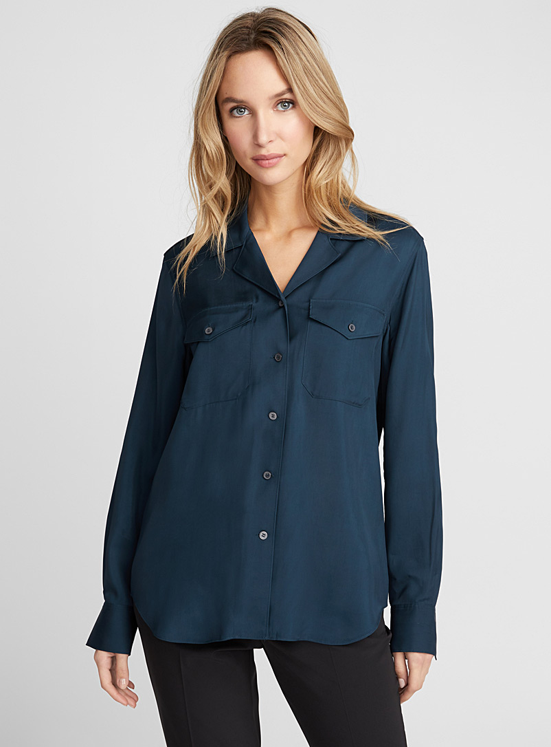 Cruise fluid pocket blouse - Shirts - Lime Green