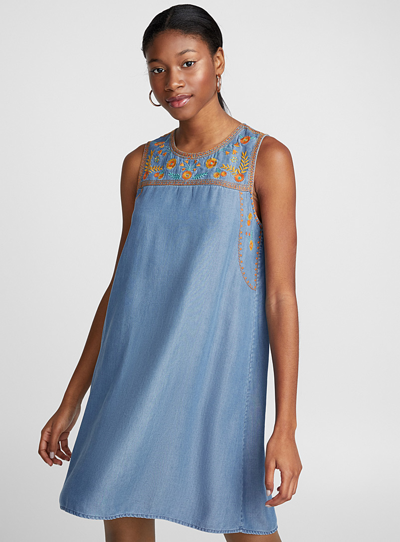 Sunny floral dress - Straight - Blue