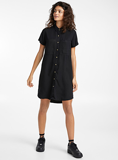 Lyocell shirtdress