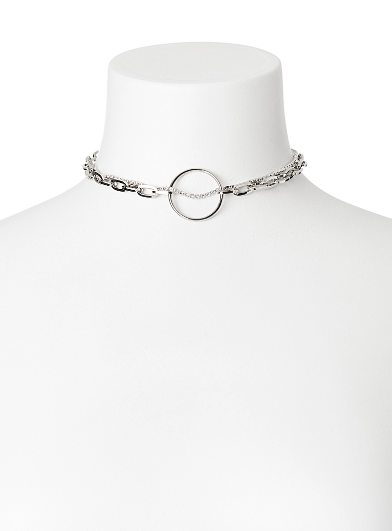 Justine Clenquet Silver Lina choker for women
