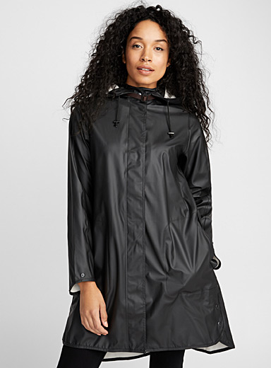 Belt collar raincoat