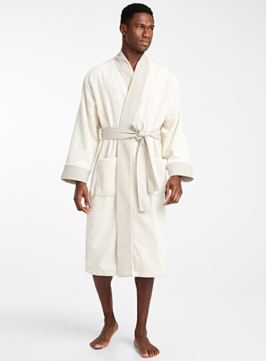 Ecru terry robe
