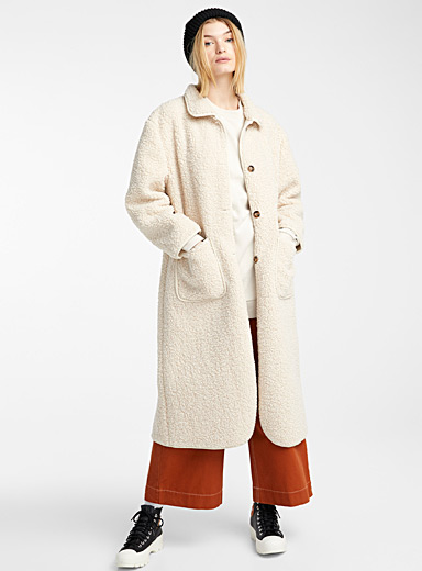 Le long manteau sherpa