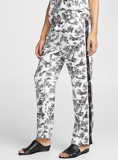 Graphic contrast garden pant