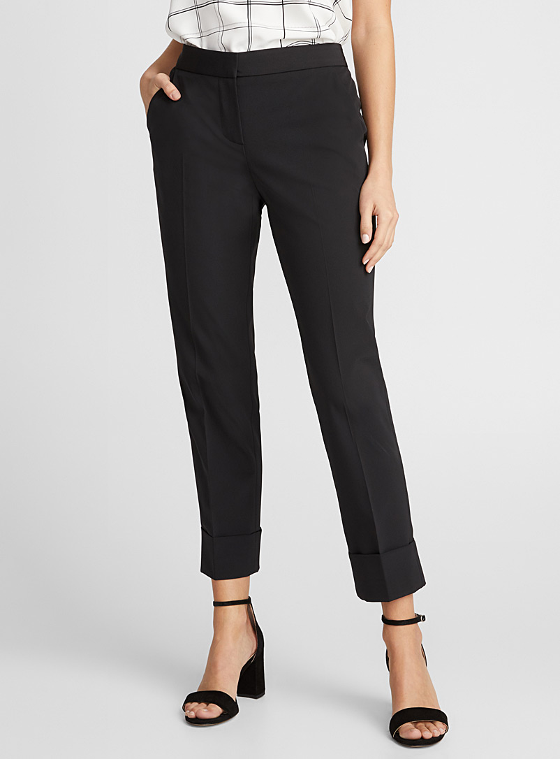 Reva B cuffed pant - Semi-Slim - Black