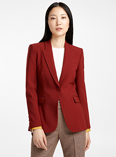 Siena spicy-red wool jacket