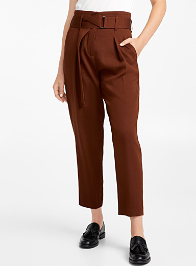 Arco belted pleated pant