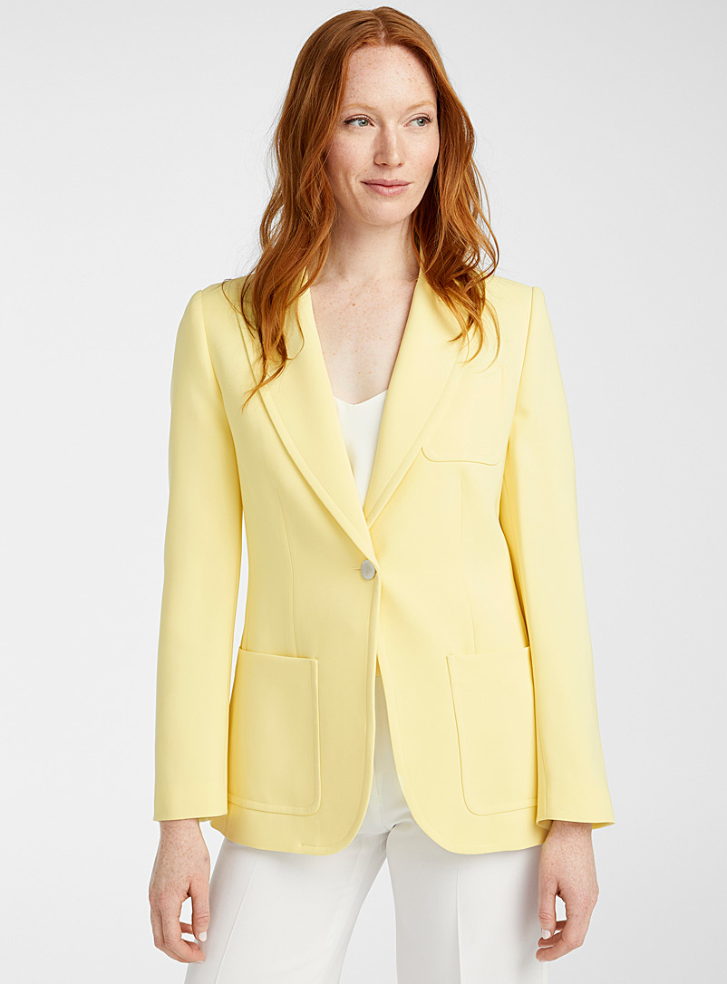 Judith & Charles Light Yellow Toulouse limoncello jacket for women