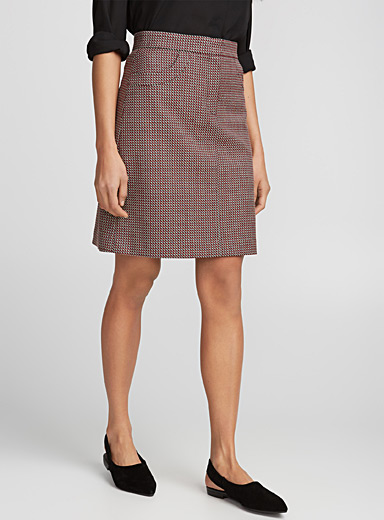 Galloway geo jacquard skirt