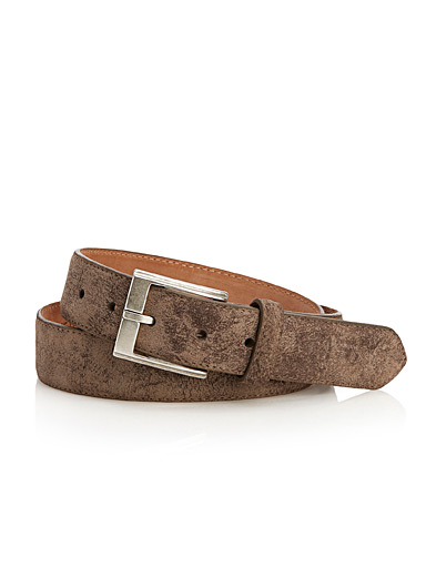 Casual suede belt