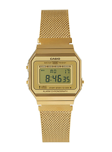 Casio Golden Yellow Retro gold digital watch for women