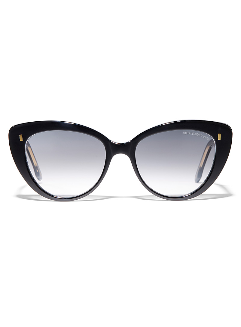 Cutler and Gross Black Iconic cat-eye sunglasses for women