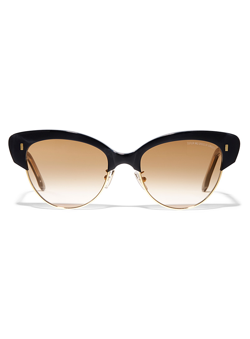 Cutler and Gross Black Vintage cat-eye sunglasses for women