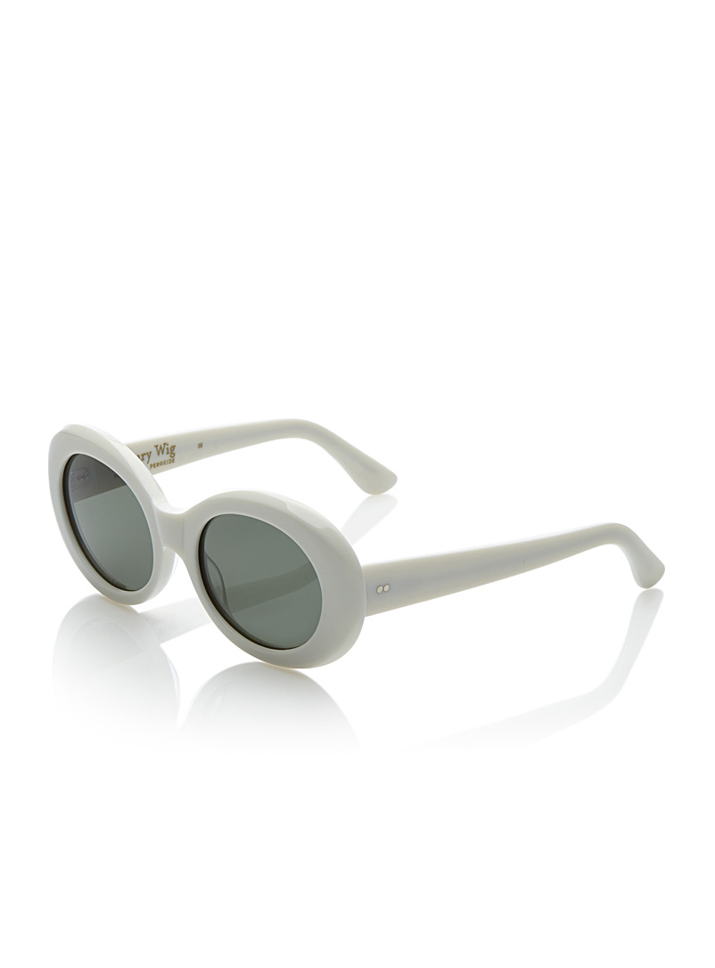 Luxury Wig sunglasses - Designer - White