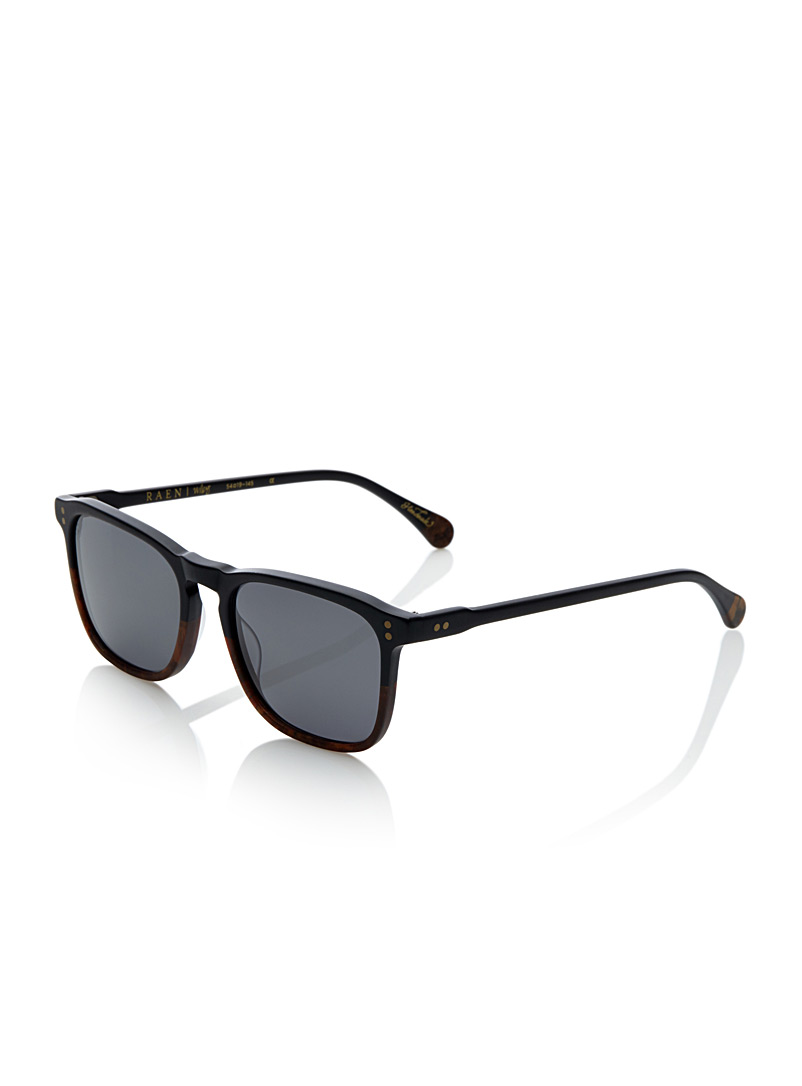 Wiley retro sunglasses - Designer - Patterned Black