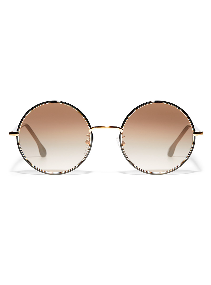 Paul Smith Patterned Black Alford round sunglasses for men