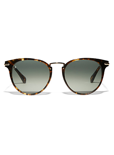 Norie round metallic accent sunglasses