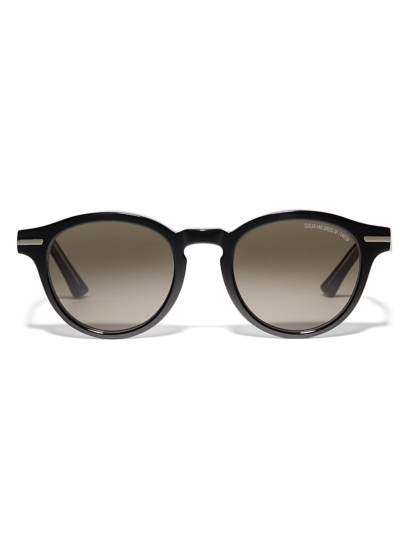 Cutler and Gross Black Round contemporary sunglasses for women