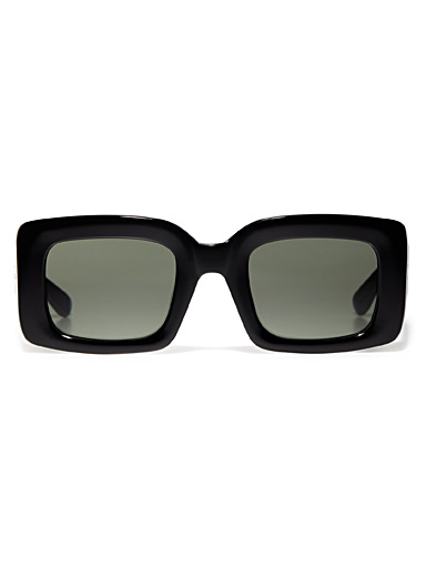 Flatscreen rectangular sunglasses