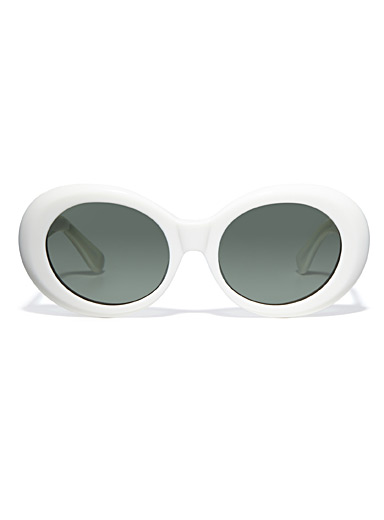 Figurative oval sunglasses