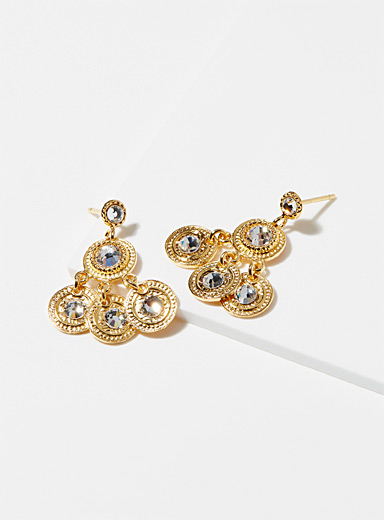 Gold Arlequin earrings