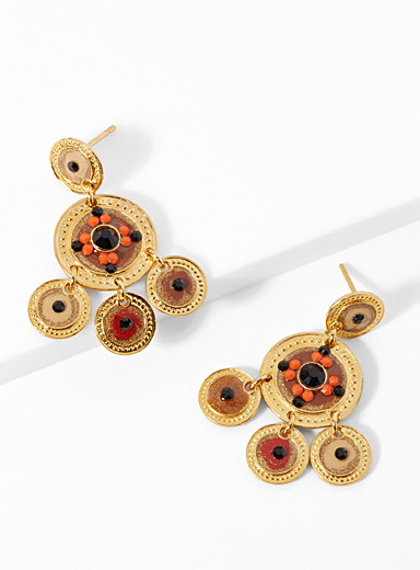 Sequin warm tone earrings
