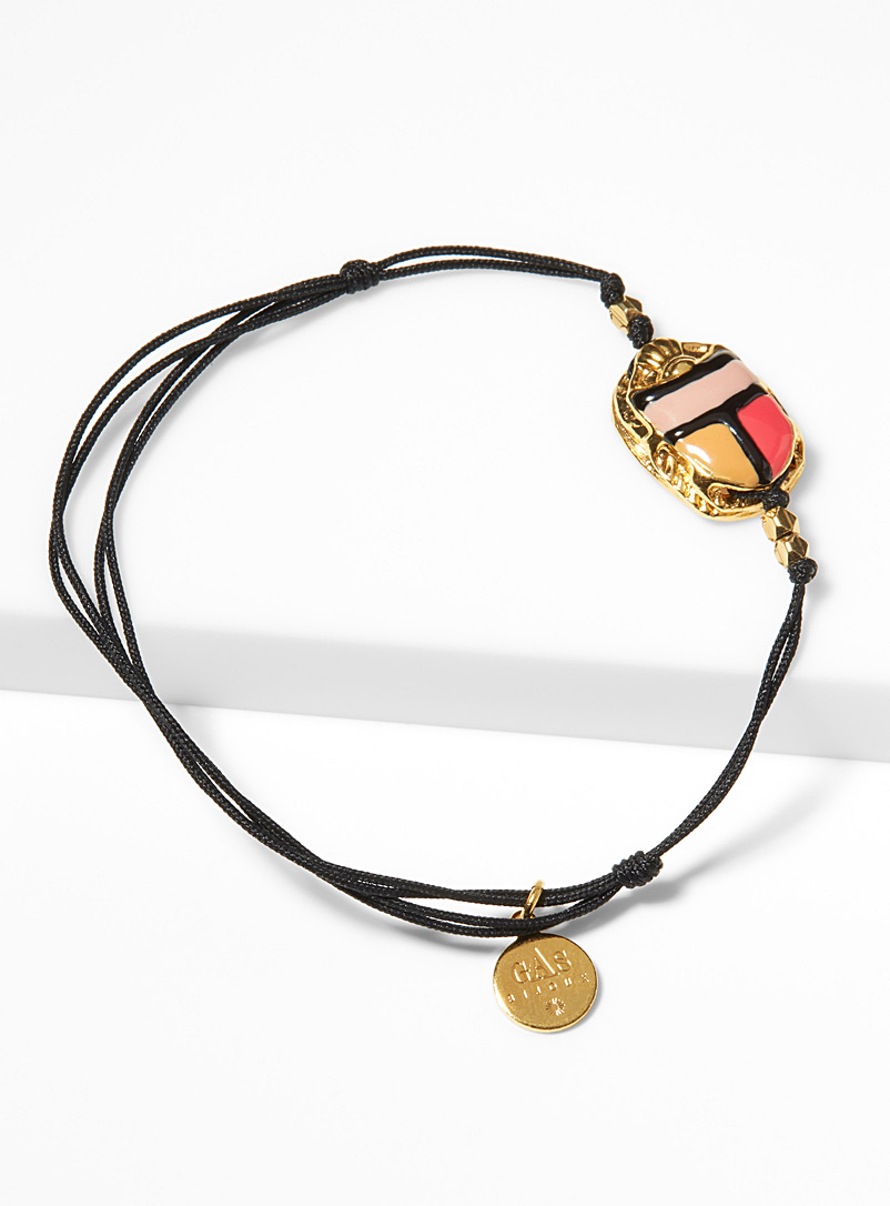 Scaramouche gold bracelet - Bracelets - Patterned Black