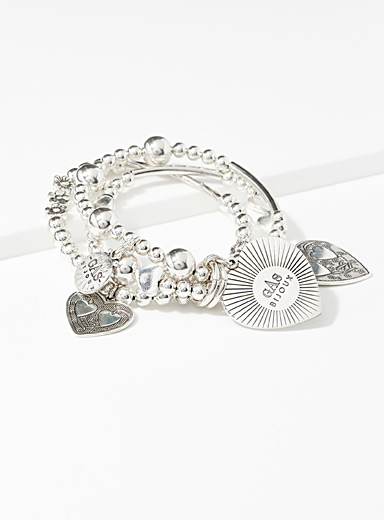 Merlin Love three-row bracelet