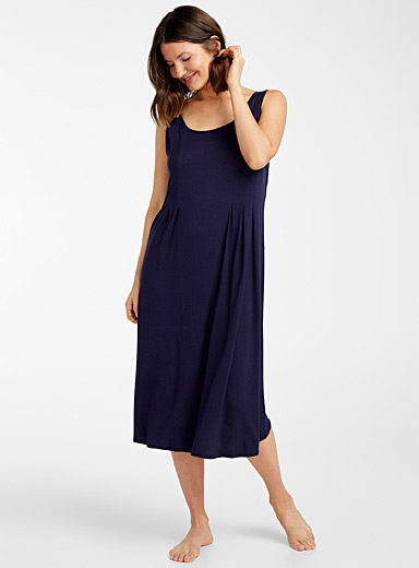 Donna Karan Marine Blue Long navy night cami for women