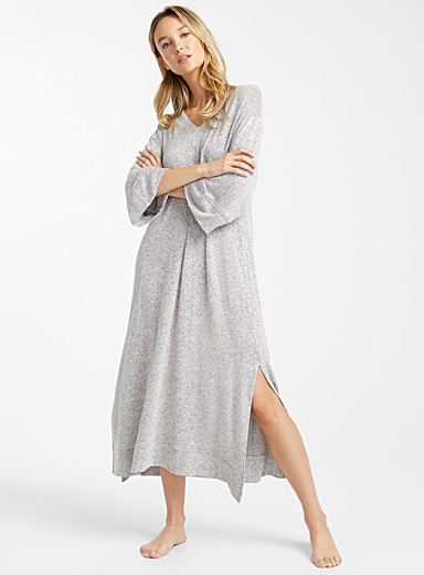 Heather grey lounge caftan
