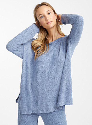 Heather blue sweater