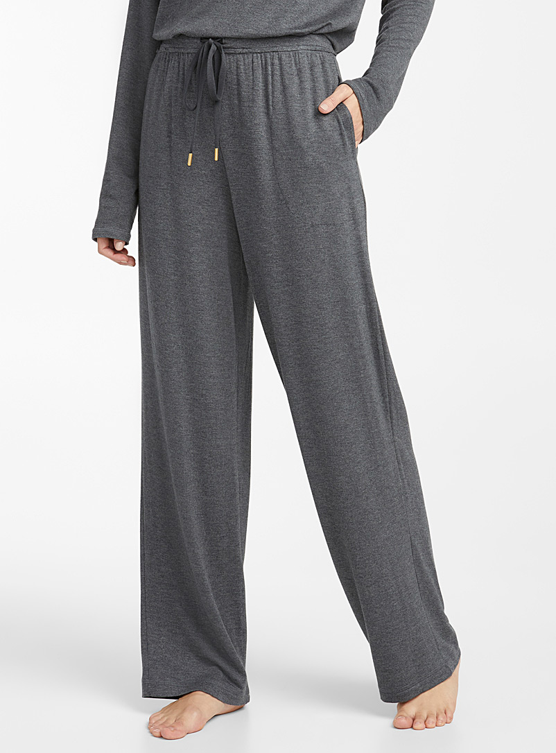 Donna Karan Charcoal Charcoal grey lounge joggers for women