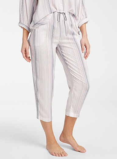 Donna Karan Patterned White Sunset pant for women