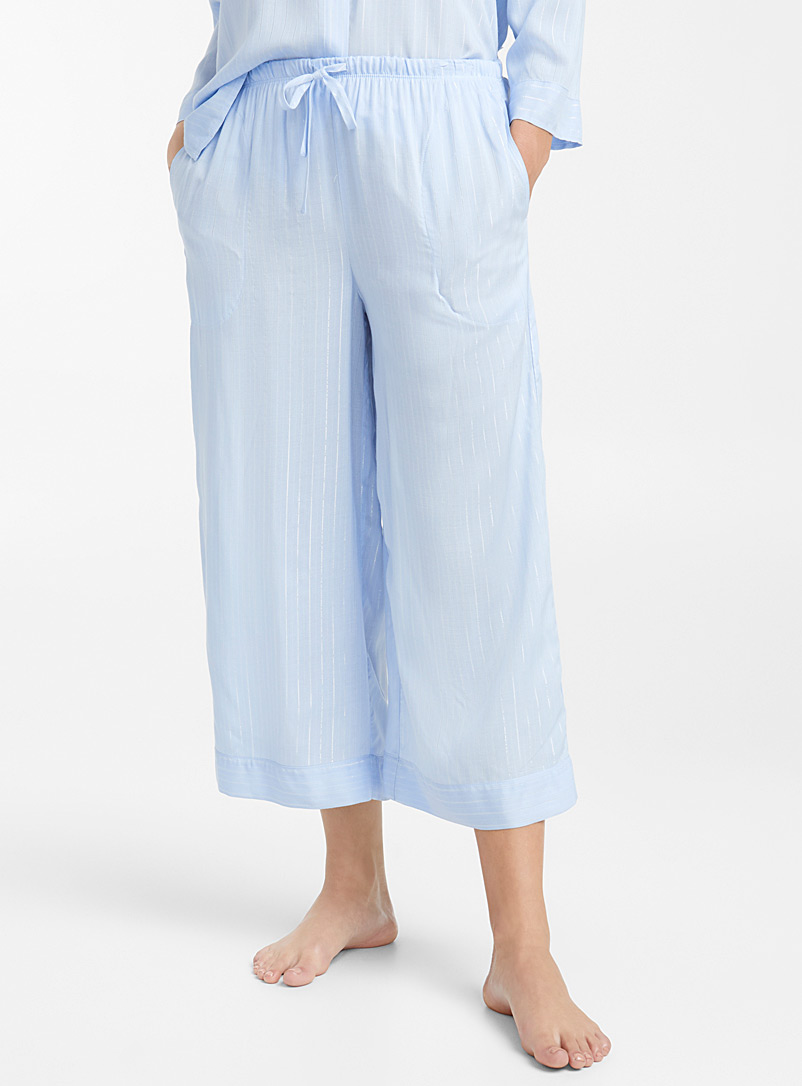 Shimmery stripe pant - Sleepwear & Leisurewear - Blue