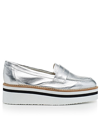 Morekai metallic loafers