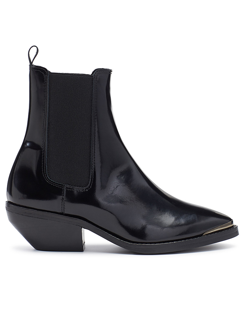 Dallas shiny boots - Boots - Black