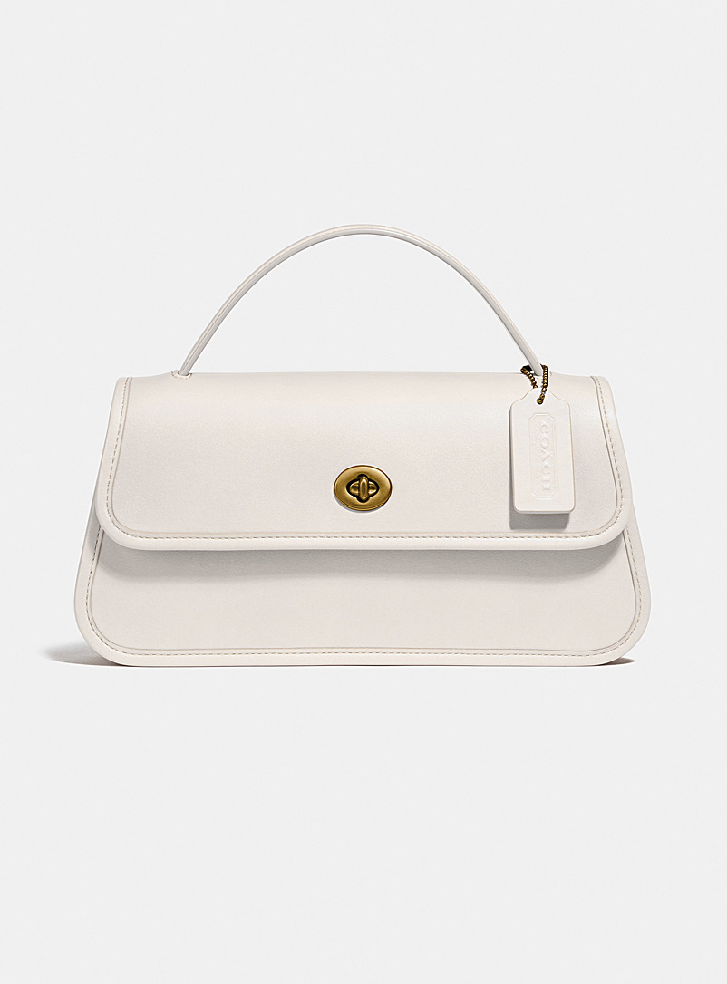 Coach Ivory White Turnlock clutch for women
