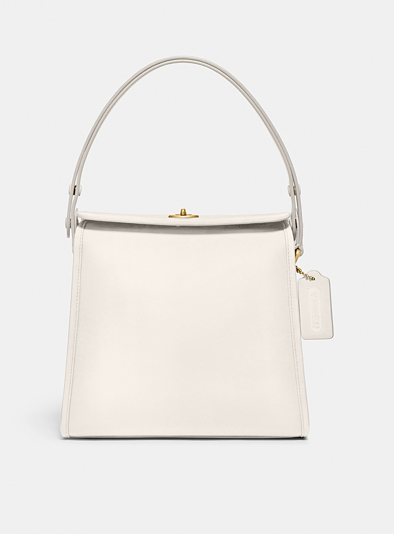 Coach Ivory White Turnlock structured bag for women