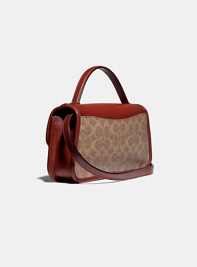 Coach Assorted brown  Signature canvas Turnlock clutch for women
