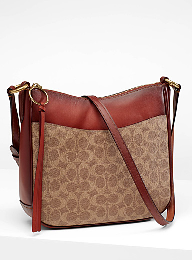 Signature canvas shoulder bag