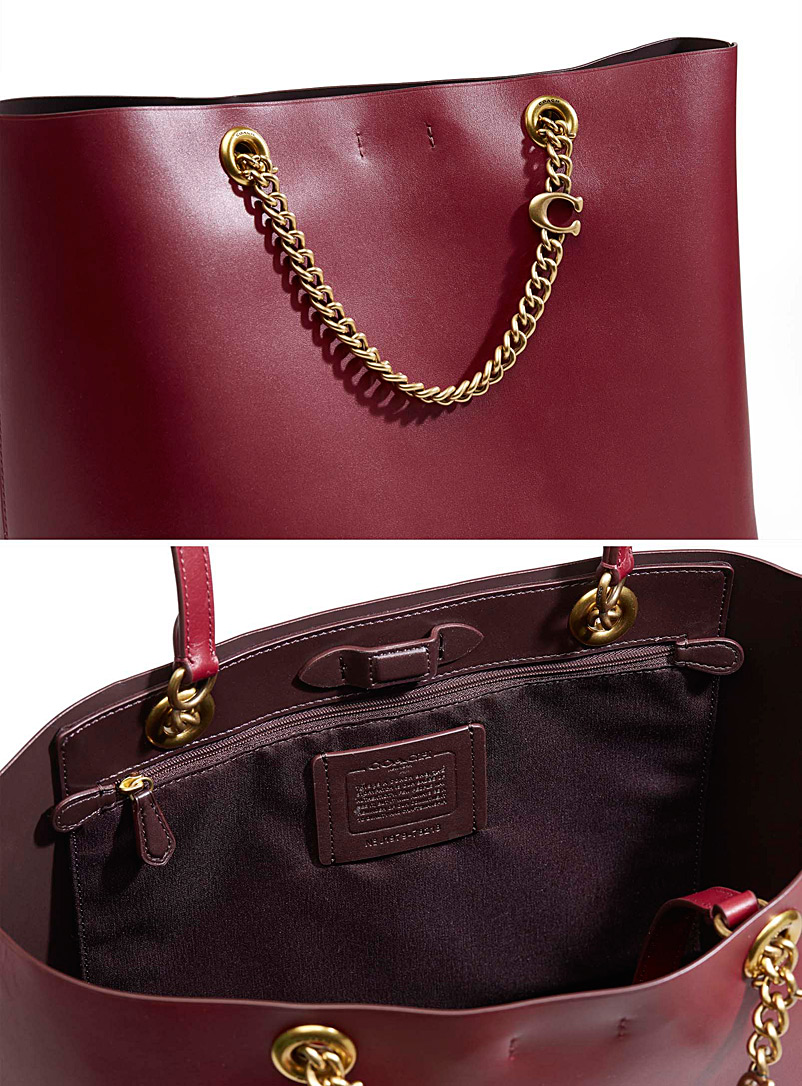 Signature chain Central tote - Coach 1941 - Ruby Red