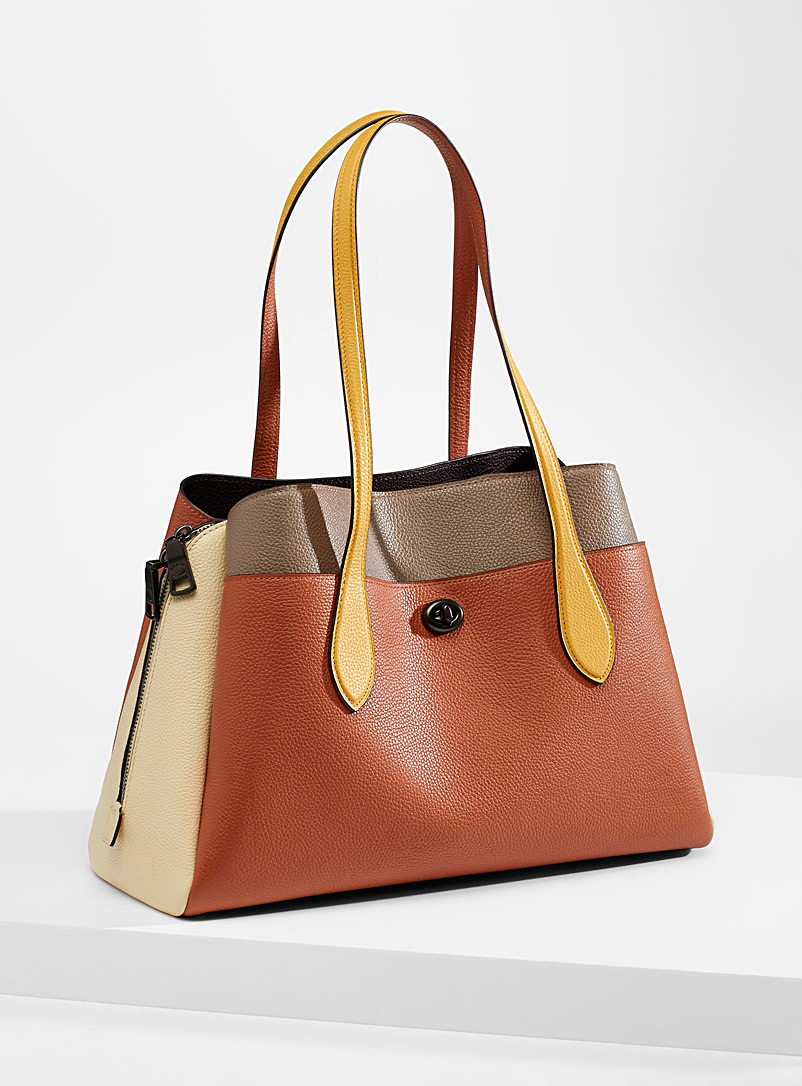 Coach Patterned Brown Lora tote for women