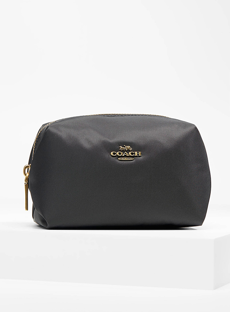 Coach Black Small cosmetic bag for women