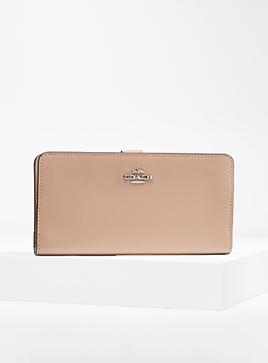 Coach Sand Thin genuine leather wallet for women