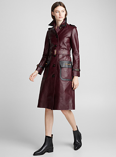 Le trench cuir Western