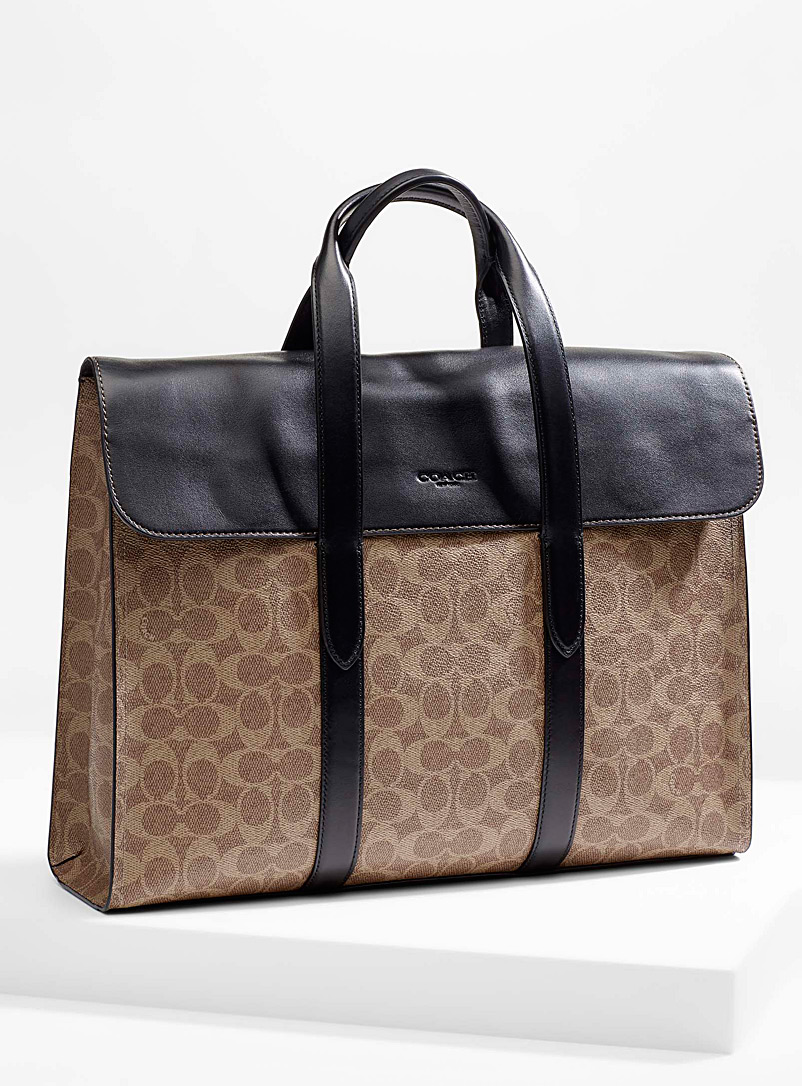 Coach Black Metropolitan Portfolio for men