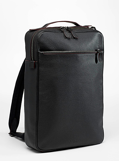 Coach Black Metropolitan convertible backpack for men